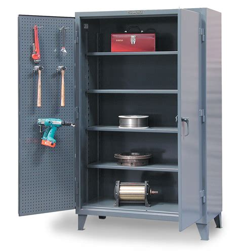 Pegboard Cabinet Doors by Industrial Storage Cabinet With Pegboard Doors Procura