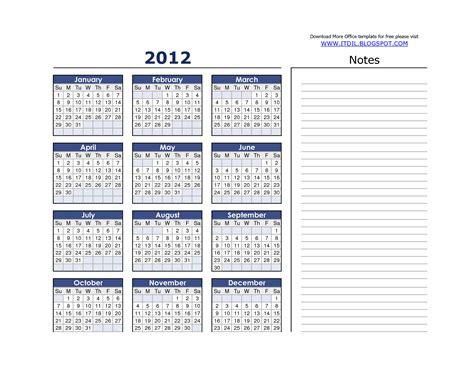 Calendar Template 2012 Monthly Best Photos Of 2012 Monthly Calendar Template Printable