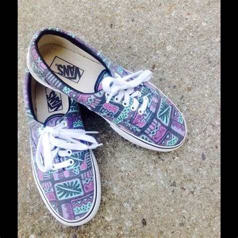 tribal pattern vans vans firm tribal pattern vans from phyl s closet on
