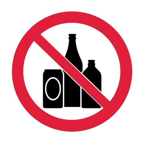 brady prohibitory pictograms  alcohol  industrial