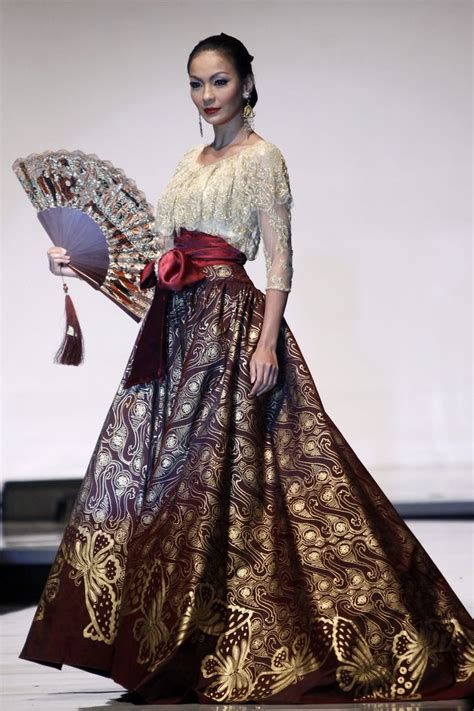 Dress Chamelia Batik Sarung Parang Mix Maroon The Best Batik Dress Designers Indonesia Kebaya Kebaya