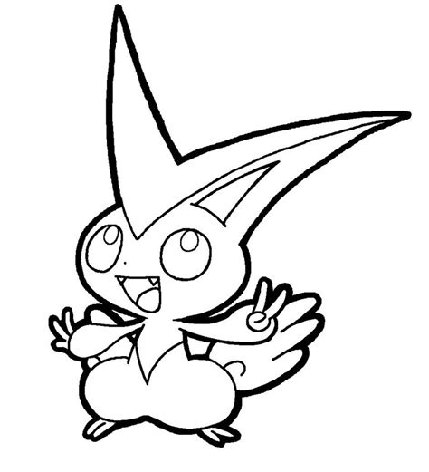 pokemon coloring pages victini victini lineart by yumezaka on deviantart