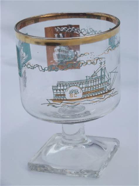 vintage southern comfort vintage libbey southern comfort glasses set retro aqua