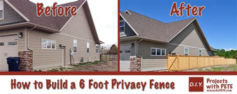 how to have a house built for you how to build a 6 foot privacy fence