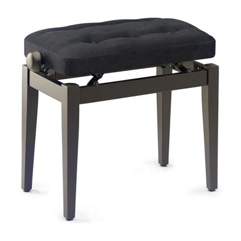 rosewood piano bench stagg pb43 chesterfield piano bench rosewood black velvet