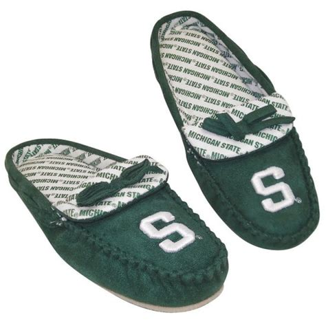 michigan state slippers new womens michigan state spartans moccasin slippers sz