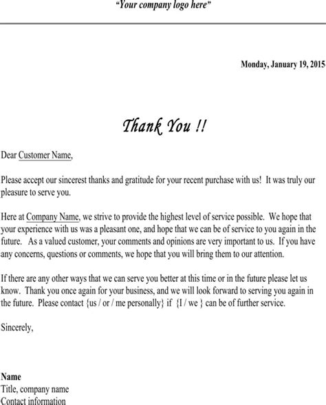 thank you letter to vip customers thank you letter to vip customers 28 images thank you
