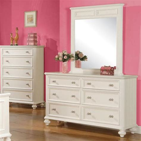 girls bedroom dressers acme furniture athena girls bedroom dresser and mirror set
