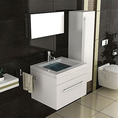 becken badezimmer badm 246 bel set mit hochschrank waschbecken mineralguss