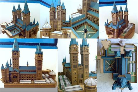 Hogwarts Castle Papercraft - hogwarts castle paper model wip 4 by wandmaker on