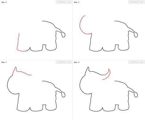 Drawing Step By Step Easy Animals by Draw Animals Pencil Drawing
