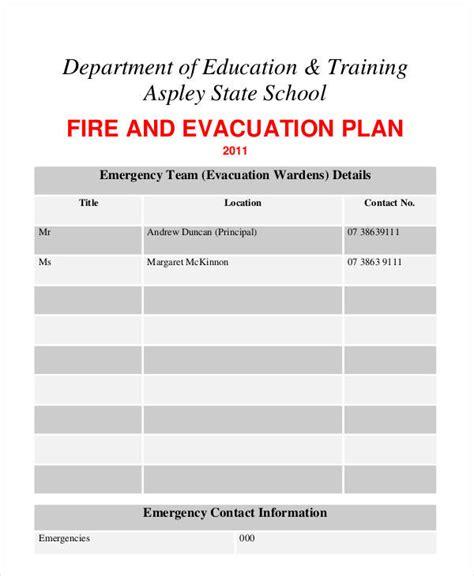 7 Evacuation Plan Sles Templates Sle Templates Emergency Evacuation Plan Template For Business