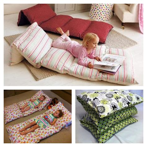 beds and pillows sew pillowcases together to make floor cushions