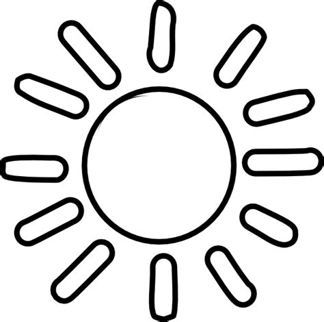 Sun Outline Clip by Sun Outline Clip At Clker Vector Clip Royalty Free Domain