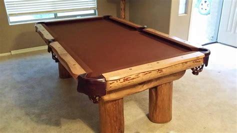 Pole Table by Lodge Pole Pool Table Custom Sizes