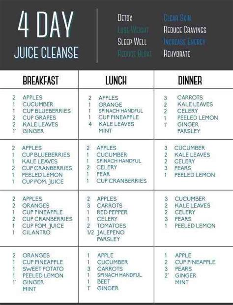 14 Day Juice Detox Diet Plan by Juicing Recipes For Detoxing And Weight Loss Modwedding