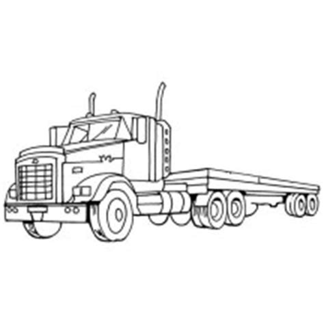 flat bed coloring page semi truck netart