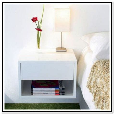 Wall Mounted Nightstand With Drawer by Wall Mounted Nightstand Bedside Table Cool Shelving