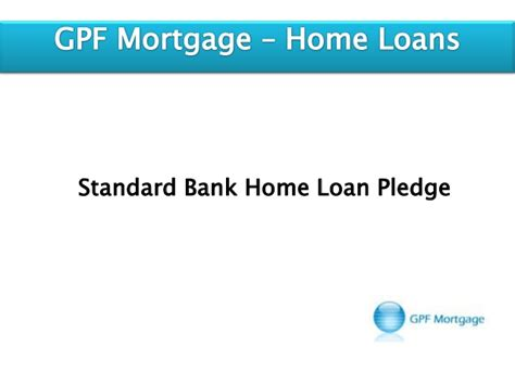 standard bank home loan pledge