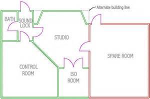 Music Studio Floor Plan by Floor Plan Concept Most Used For Recording Studios
