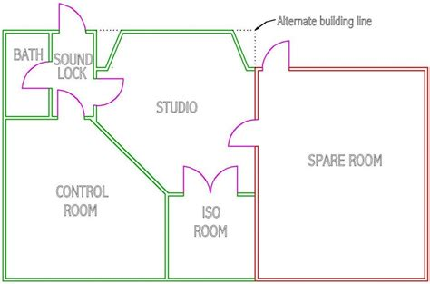 recording studio floor plans design considerations for recording studios steven klein