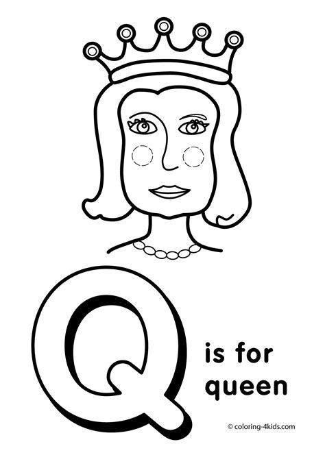 coloring pages letter q az coloring pages