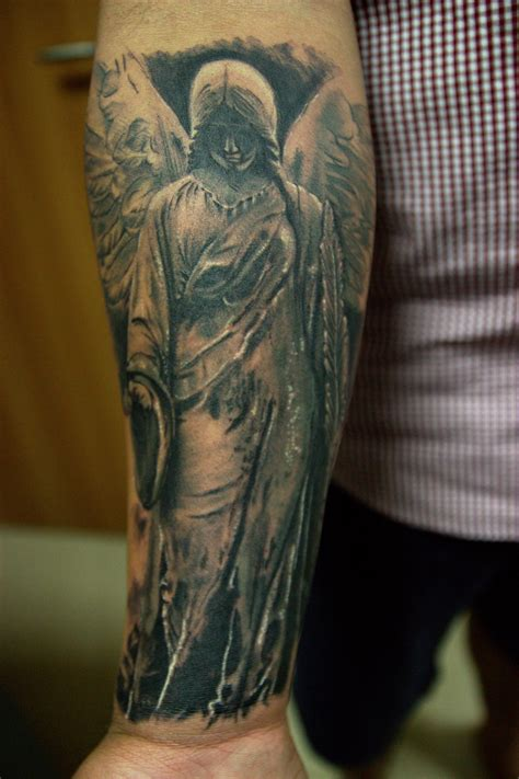 angel tattoo on forearm rahul ghare certified artist