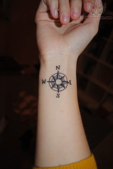 female wrist tattoos wrist compass for