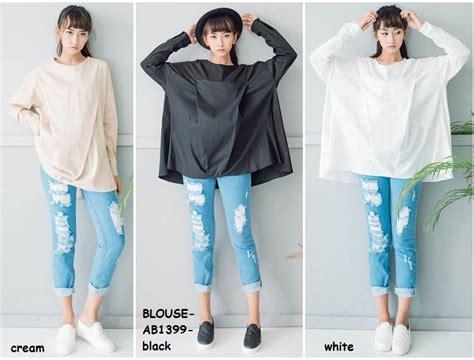 Blouse Baju Atasan Atasan Wanita Blus Putih White 2 Jual Baju Blus Tunik Panjang Big Size Katun Putih White