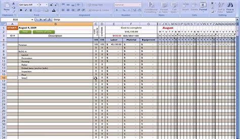 free excel construction templates free construction