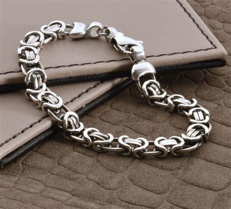 men s heavy silver chain detail bracelet hurleyburley