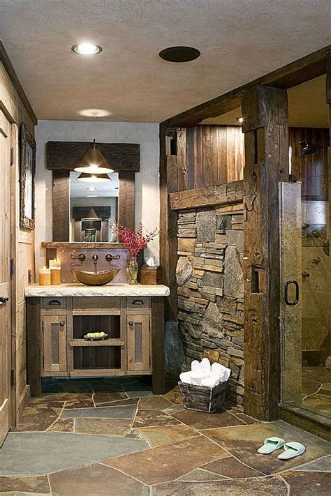rustic bathroom flooring 25 stone flooring ideas with pros and cons digsdigs