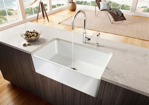 New Style Kitchen Sinks New Blanco Farm Sink For Contemporary Kitchens