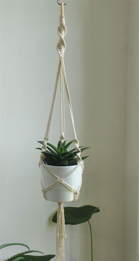 How To Make A Plant Hanger With Rope - 25 best ideas about macrame plant holder on