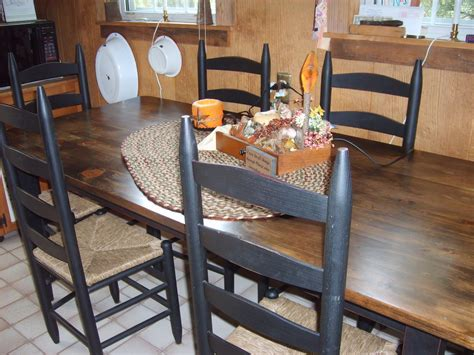 farmhouse prims amish made kitchen table and chairs - Amish Kitchen Table And Chairs