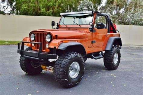 jeep cj 7 sport quadra trac suv lifted skyjacker custom w