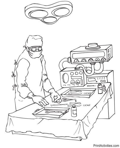 medical instruments coloring pages doctor coloring page with his medical instruments