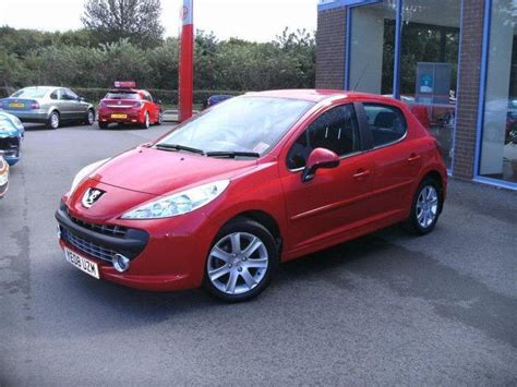 peugeot 207 red used peugeot 207 2008 red paint diesel 1 6 hdi 90 sport