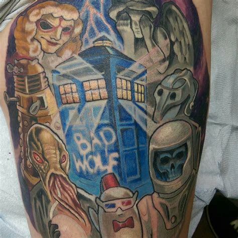 dr tattoo weeping doctor who www pixshark