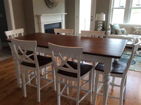 bar height farmhouse table farmhouse tables