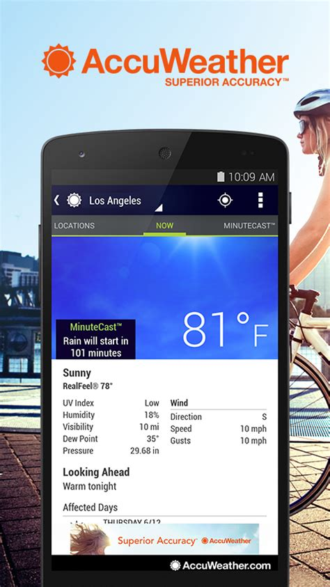 accuweather android app accuweather screenshot