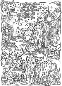 coloring for adults coloring page world if i only nine lives let me