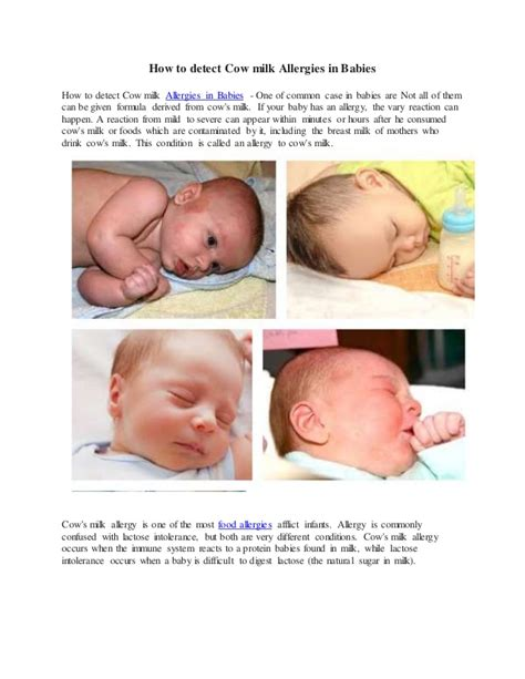 protein allergy how to detect cow milk allergies in babies