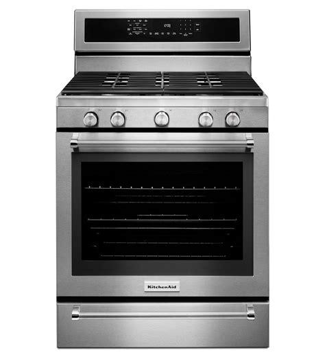 gas range with warmer drawer kitchenaid 174 30 inch 5 burner gas convection range with