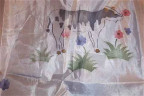 nip set cow farm swag valance and kitchen curtains ebay