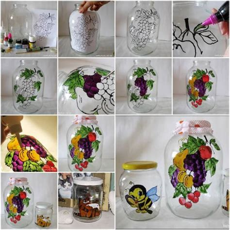 arts and crafts home decor ideas diy painting glass jars and bottles tutorials