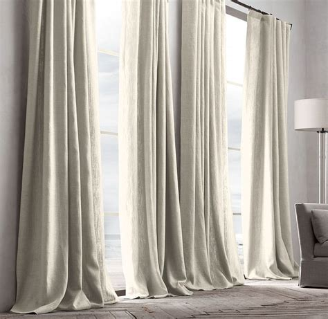 Restoration Hardware Shower Curtains Designs Belgian Textured Linen Drapery Grommet Style 50 Quot W 84 Quot L 96 Quot L 108 Quot L Or 120 Quot L Pleat