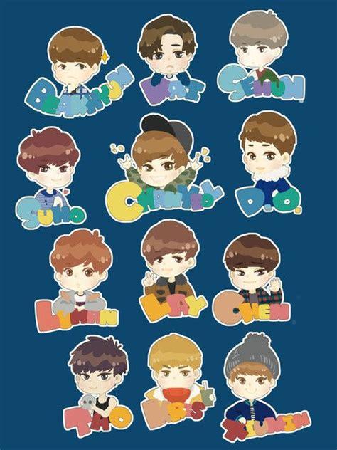 wallpaper exo cartoon 75 best exo chibi images on pinterest kpop fanart chibi