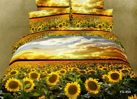 Sunflower Duvet Cover Set 3d sunflower flower floral bedding comforter set king