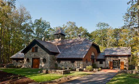 Log Cabin Bedroom Decorating Ideas carriage house barn traditional shed new york by